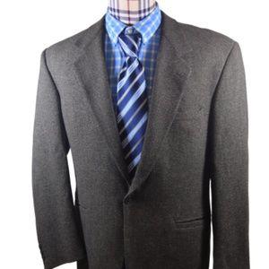 Versace V2 Gray No Vent one button Sport Coat 42 L